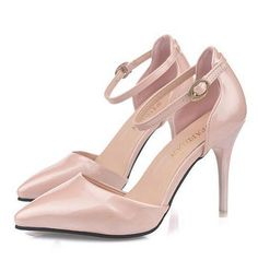 2015 new Womens Pumps Pointy Toe Ankle Strap Womens High Heels white shoes Stilettos Cocktail Party shoes Summer Shoes p6c78