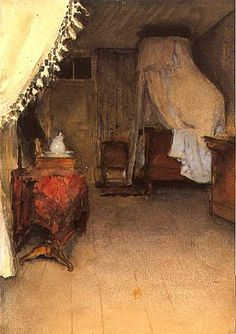 John Singer Sargent, Bedroom on ArtStack #john-singer-sargent #art