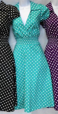 Pin Up Dresses - Polka Dot Stylish Pin Up Outfits, Pin Up Dresses, Cute Outfits, Vintage 1950s Dresses, Up Girl, Playing Dress Up, Swing Dress, Dress To Impress, Casual Looks