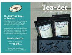 Steeped Tea's Tea-zer program! Like a book club but yummier! ;-)  www.mysteepedtea.com/KT1002562