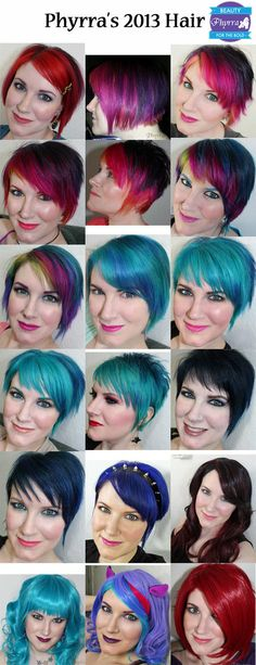 My Hair Month by Month of 2013 - #hair #haircolor #brighthair #phyrra - bellashoot.com