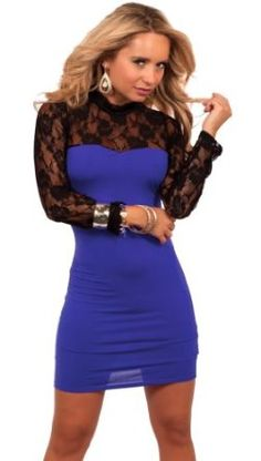 Sheer Long Sleeve Lace Panel Fitted Sweetheart Formal Evening Cocktail Dress