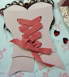 Make your own corset cards! Cute invite idea for friends' bachelorette party!