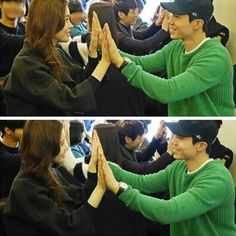 Lee Dong Wook and Lee Da Hae received hotel service training to make their new MBC drama 'Hotel King' as realistic as possible! Lee Da Hae, Lee Dong Wook, Mbc Drama, Hotel King, Hotel Services, Korean Drama Movies, Kdrama, Kpop, Actors