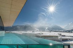 This picture was taken from the pool of the Tauern Spa today after a lot of snowfall in Kaprun!