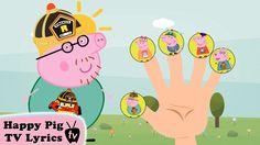 "Peppa Pig Robocar Poli Finger Family \ Nursery Rhymes Lyrics and More ""Peppa Pig"" follo."