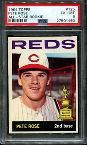 1964 Topps All Star Rookie 125 Pete Rose Reds Psa 6 Rookiecard Rookie99 Peterose Pete Rose Baseball Cards Baseball Cards For Sale