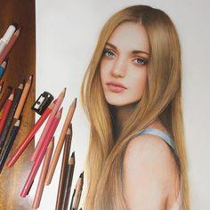 Ekaterina Vilkova. Realistic and Detailed Pencil Portrait Drawings. By Marat Utamuratov.