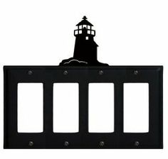 Lighthouse - Quad. GFI Cover by Village Wrought Iron. $18.32. Lighthouse - Quad. GFI CoverApprox. 8 1/4 In. W x 8 In. H Please allow 4 to 6 weeks for delivery.