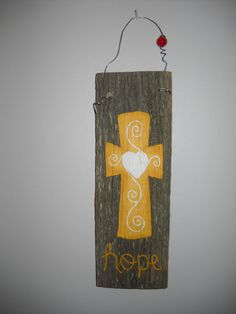 Barnwood Wall Hanging by HandMadeForEwe on Etsy, $17.00