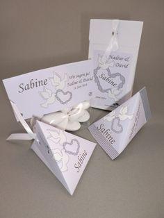 Dezentes Hochzeits-Gastgeschenk - gerne auch als süßes Tischkärtchen mit den Namen aus der Gästeliste