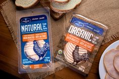 Deli style organic chicken meat slices in resealable trays. Design by Marovino Visual Branding Food Packaging Design, Packaging Ideas, Organic Packaging, Meat Packing, Organic Chicken, Meat Chickens, Smoking Meat, Oven Roast, Deli