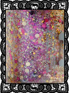 Rainbow Honey Glitter Nail Polish Macro