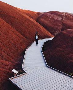 Painted Hills, Oregon, USA #TravelDestinationsUsaOregon