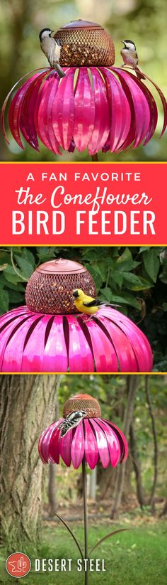 Artist crafted bird feeders, garden torches, landscape accents and more! Art sparked by nature!