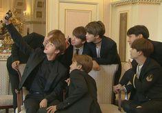 BTS on KBS News~ Behind their recent group photo! ❤ #BTS #방탄소년단