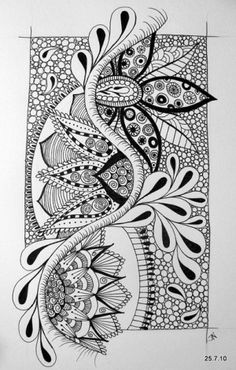 Love this... by JO in NZ found at http://indulgy.com/post/7ZGaHVCME1/zentangle#