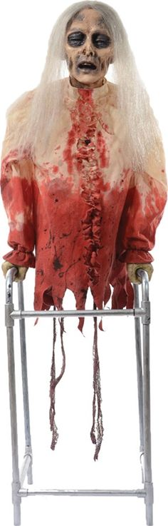 ANIMATED SLASHING BAT HALLOWEEN PROP Scary Haunted House Yard Garden - scary halloween props