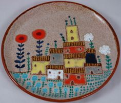 Art brut style plate