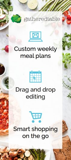 Gatheredtable makes homemade meals easier with customized, seasonal weekly menus, smart grocery lists, and optional local grocery delivery. Get Healthy, Healthy Life, Healthy Living, Healthy Recipes, Planning Menu, Planning Budget, Budget Meals, Meals For The Week, Life Changing