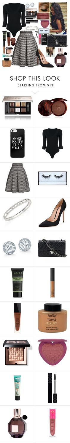 """First Daughter"" by girlygirlprincess ❤ liked on Polyvore featuring Givenchy, Guerlain, Alaïa, Rumour London, Huda Beauty, Messika, Gianvito Rossi, Chanel, NYX and NARS Cosmetics"