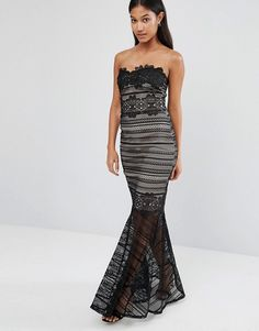 Buy Lipsy Fishtail Lace Overlay Maxi at ASOS. With free delivery and return options (Ts&Cs apply), online shopping has never been so easy. Get the latest trends with ASOS now. Wedding Dresses Under 500, Inexpensive Wedding Dresses, 30th Birthday Dresses, Short Long Dresses, Strapless Dress Formal, Formal Dresses, Maxi Styles, Latest Dress, Lipsy