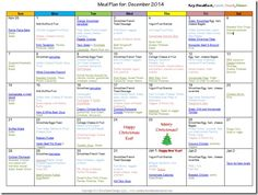 meal planning for a month