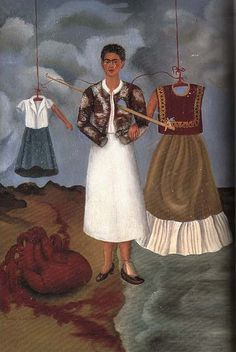 Memory, the Heart, 1937 by Frida Kahlo In this self-portrait, Memory, the Heart Frida Kahlo expressed her misery and resent over the affair happened two years ago between Diego Rivera and Cristina. Frida E Diego, Diego Rivera Frida Kahlo, Frida Art, Frida Kahlo Artwork, Natalie Clifford Barney, Famous Artists, Great Artists, Kahlo Paintings, Sad Paintings