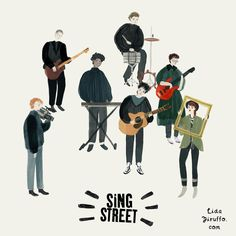 Sing Street, Room Posters, Movie Posters, Some Pictures, Talk To Me, Digital Illustration, Good Movies, Movie Tv, Musicals