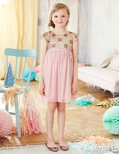All the romance of a truly glamorous party with great comfort and durability. This sequin-tulle combination will make any girl feel like a princess. #Miniboden