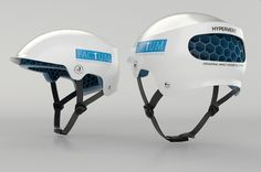 FACTUM : world's first tailored printed cycle helmet Hockey Helmet, New Helmet, Cycling Helmet, Bicycle Helmet, Mountain Bike Helmets, Bike Components, Snowboarding Gear, Helmet Design, Search And Rescue