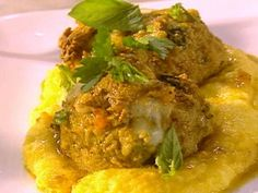 The Ultimate Meatballs al Forno with Creamy Polenta from CookingChannelTV.com   the sauce sounds really good and can make with turkey