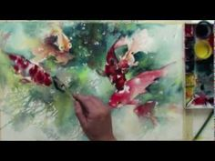 Preview Watercolor with Lian Quan Zhen: Koi & Goldfish now. In this preview follow watercolor techniques for mingling vibrant color and negative painting. Learn how to make a subject come to life right on your page. Visit http://ArtistsNetwork.tv for access to the full length version of this video.