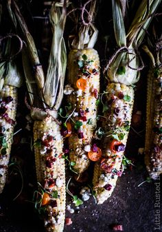 Fire Roasted Sweet Corn with Vegetable Medley Recipe. A Sweet Corn Field Farm to Table Food Photography & Video by Jena Carlin and Jim Rude. lifestyle editorial