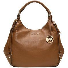 Michael Kors Bedford Large Shoulder Tote Bag, Brown ($490) found on Polyvore