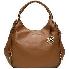 Michael Kors Bedford Large Shoulder Tote Bag, Brown ($490) found on Polyvore