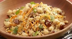 Couscous Salad with Chickpeas, Dates & Cinnamon