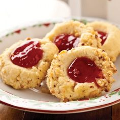 Hazelnut Thumbprint Cookies, close to Betty Crocker's recipe.