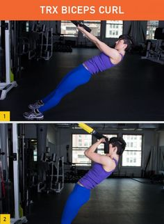 TRX Biceps Curl #fitness #workout #strength