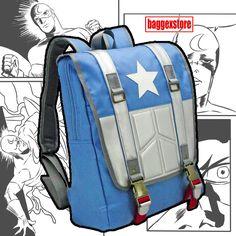 Captain America Teenager Daypack Casual Backpack Youth School Rucksack Book Bag