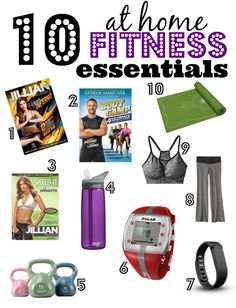 10 At Home Fitness Essentials- Everything you need to get fit at home- no gym needed & no excuses!