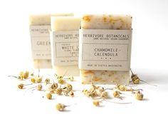 Sensitive Skin Soap Handmade Vegan Soap Set by HerbivoreBotanicals