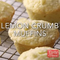 Lemon Crumb Muffins Recipe