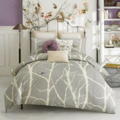 grey and purple bedrooms | purple and grey color scheme for bedroom | Home Decorating