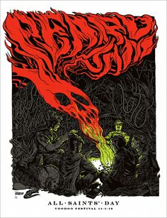 2013 PEARL JAM NEW ORLEANS 11/01 POSTER