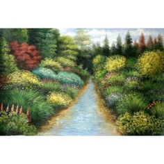 Real Handmade Landscape Oil painting Oil Paintings, Landscape Art, Handmade, Outdoor, Outdoors, Hand Made, Oil On Canvas, Outdoor Games, The Great Outdoors