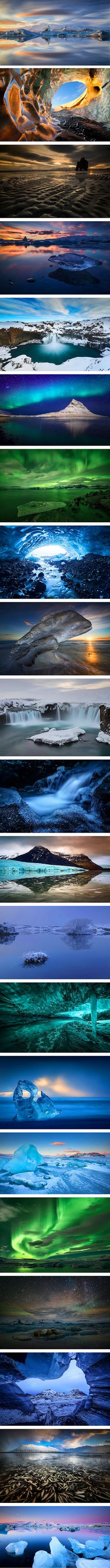 When nature photographer Erez Marom recently reached out to us to share his Iceland photographs, we were in complete awe of the breathtaking places—including Godafoss, one of the most spectacular waterfalls in the whole world—that the artist captures through his adventurous explorations. Each magical landscape conveys the silent and dazzling beauty that Iceland has to offer.