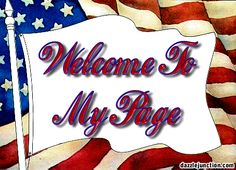 Welcome to My Page Comment Graphic
