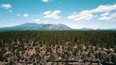 Flagstaff AZ by drone. Great reveal of the San Francisco peaks.
