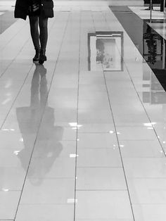 Shopping floor reflection